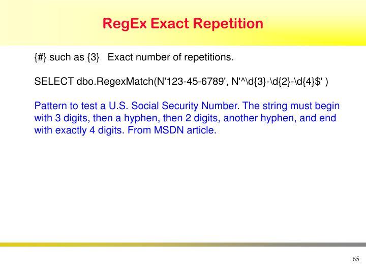 RegEx Exact Repetition