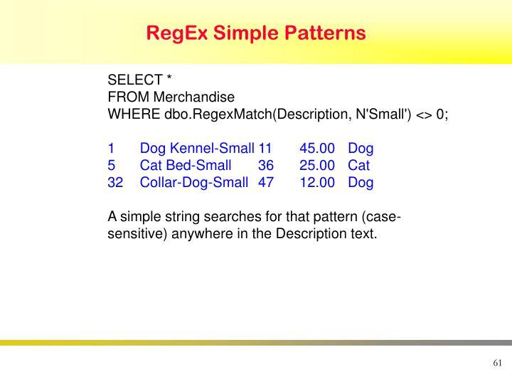 RegEx Simple Patterns