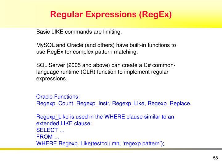 Regular Expressions (RegEx)