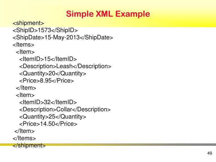 Simple XML Example