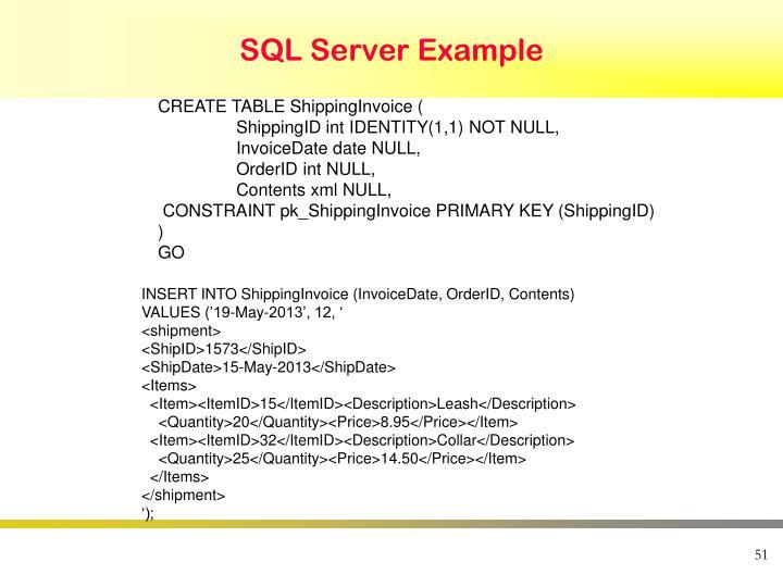 SQL Server Example