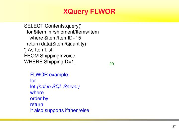 XQuery FLWOR
