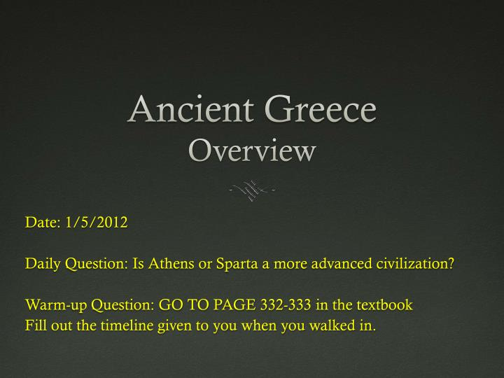 ancient greece overview n.