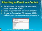 attaching an event to a control