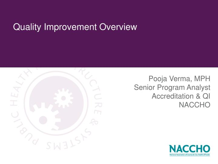quality improvement overview n.