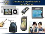 continuous improvement of input devices