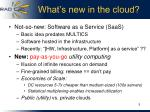 what s new in the cloud