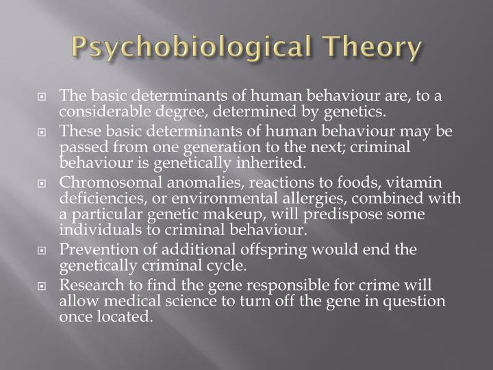 Psychobiological Theory