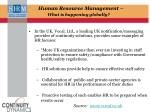 human resource management what is happening globally