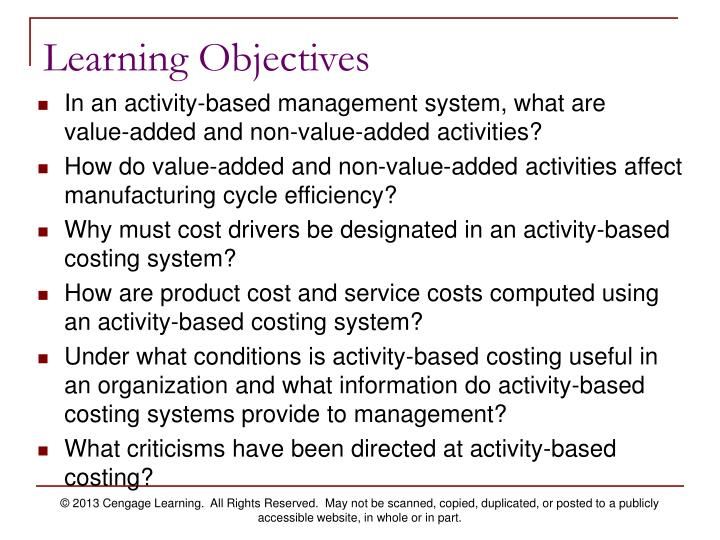 an introduction to the use of activity based costing by joseph p milazzo An introduction to the role of organizational culture in mergers acquisit the molded euclid an introduction to the geography and culture of california tuning, its very holy detail an introduction to the use of activity based costing by joseph p milazzo.