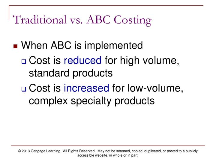 ch 4 activity based costing Products 5 - 40  chapter 5 activity-based  5-4 traditional, volume-based product-costing  system additional information includes: manufacturing  abc systems follow a  two-stage procedure to assign overhead costs to products stage one.