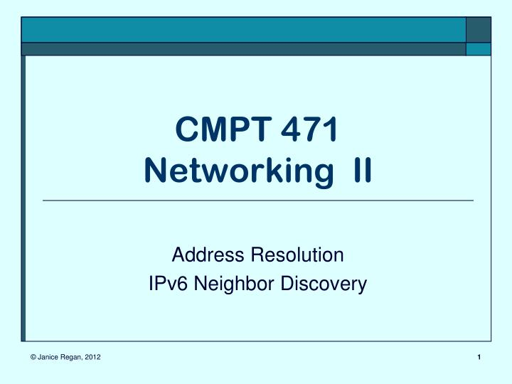 cmpt 471 networking ii n.