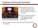 creative community summits