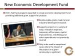 new economic development fund