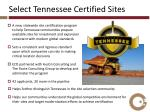 select tennessee certified sites