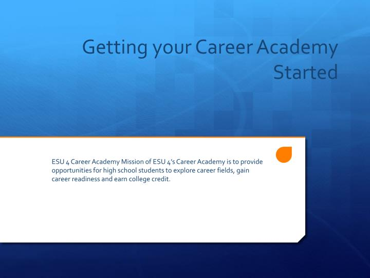 getting your career academy started n.