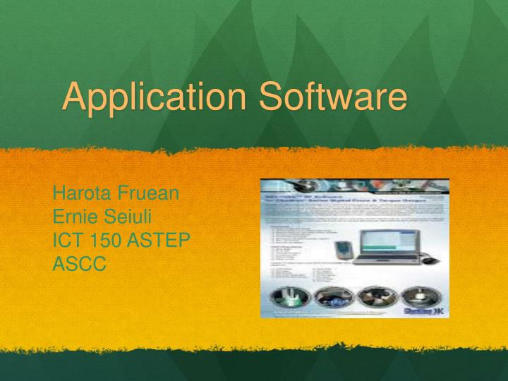 application software n.