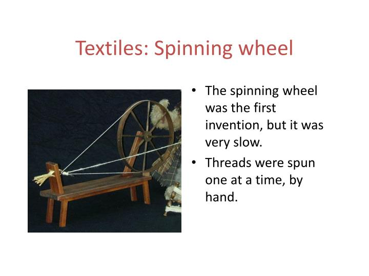 Textiles: Spinning
