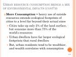 urban resource consumption brings a mix of environmental impacts cont d2