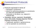 commitment protocols