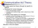 communicative act theory