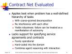 contract net evaluated