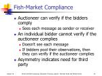 fish market compliance