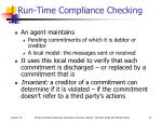 run time compliance checking