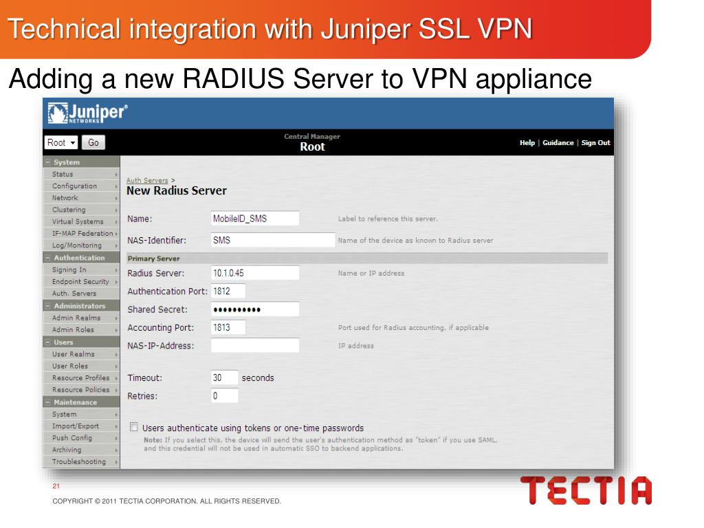 PPT - Tokenless Two-Factor Authentication for Juniper SSL
