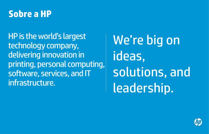 HP is the world's largest technology company, delivering innovation in printing, personal computing, software, services, and IT infrastructure.