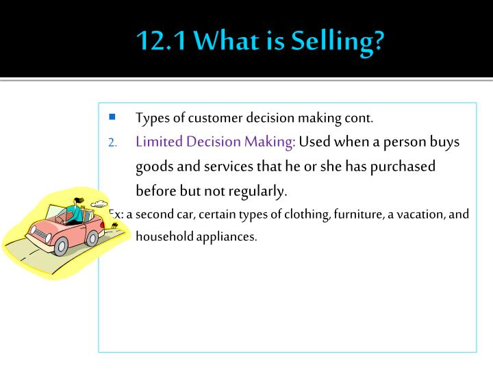 12.1 What is Selling?