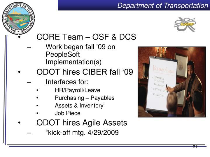CORE Team – OSF & DCS