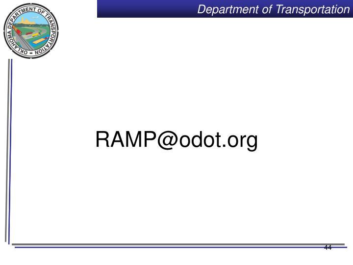 RAMP@odot.org