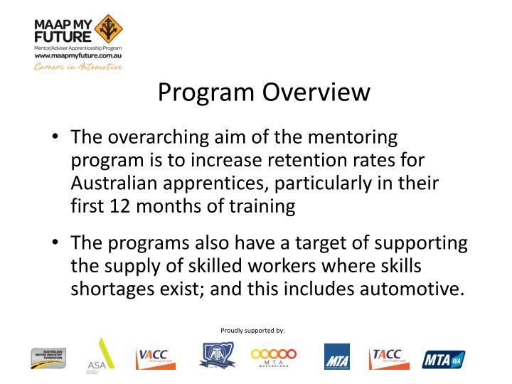 Program overview1