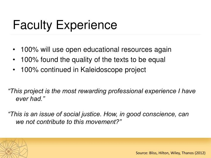 Faculty Experience