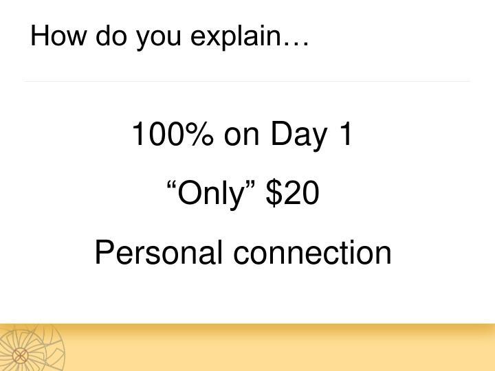 How do you explain…