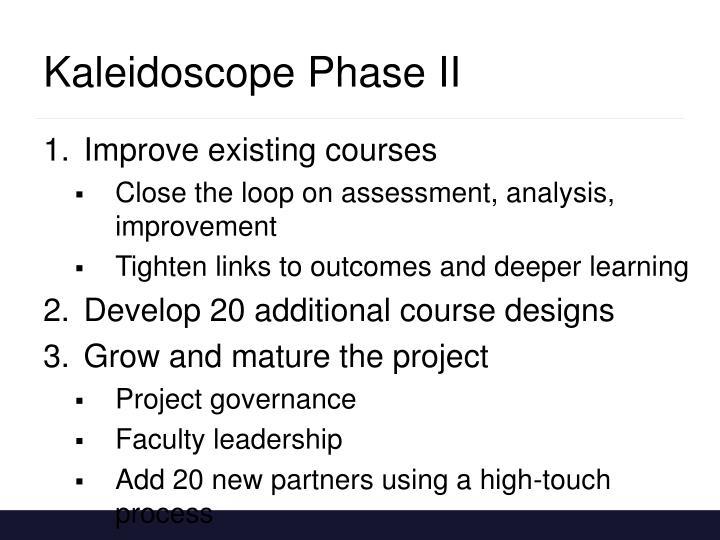 Kaleidoscope Phase II