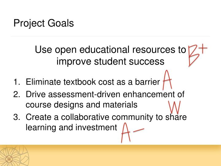 Use open educational resources to improve student success