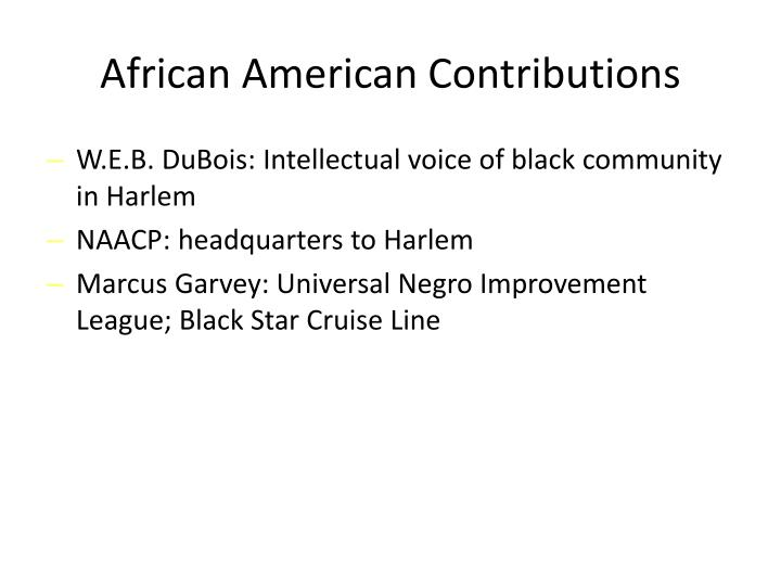 African American Contributions