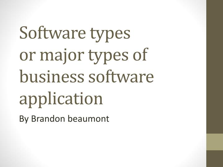 software types or major types of business software application n.