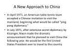 a new approach to china