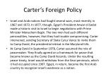carter s foreign policy