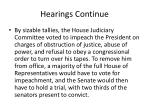hearings continue