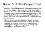 nixon s reelection campaign cont