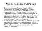 nixon s reelection campaign