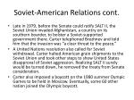 soviet american relations cont