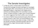 the senate investigates