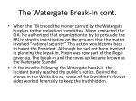 the watergate break in cont