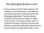 the watergate break in cont1