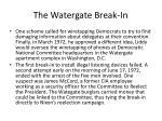 the watergate break in